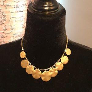 Loft brushed goldtone necklace